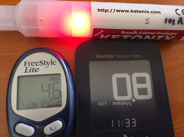 ketonix test ketone BHB blood sugar test